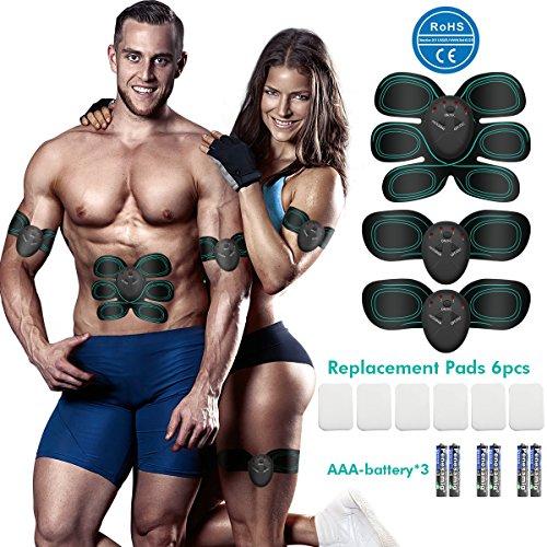 Muskelstimulation Elektrostimulation, EMS Trainingsgerät,Muskelstimulator,Elektroden Pads,Bauchmuskel trainer,Elektrostimulatoren für Herren Damen Geschenk,Massagegerät,Muskeltraining Machine