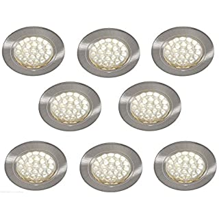 Lighting Innovations 8 X 12V RECESSED SPOT LIGHTS DOWNLIGHTS CARAVAN MOTORHOME BOAT WARM WHITE LED'S