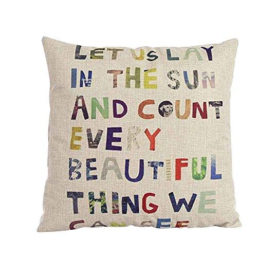 Fallen Bett-satz (Love Letter Gedruckt Kissenbezug Bett Sofa Überwurf Kissenbezug, quadratisch Dekoration, Leinen, 3, # 3)
