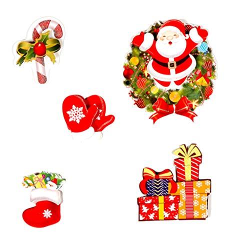 Myspace 2019 Dekoration für Christmas Frohe Weihnachten Kühlschrank PVC Aufkleber Santa Wandaufkleber Wohnzimmer Dekoration Kühlschrank Aufkleber