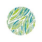 MOIKA Neue runde Blumen Druck Tischfußboden Tür Wasserdichte Dekorative Hauptaufkleber 3D