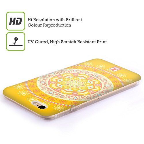 Head Case Designs Grün Kreise Mod Muster Soft Gel Hülle für Apple iPhone 5 / 5s / SE Sonnenscheinfestival