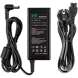 DTK 19V 3.42A 65W Chargeur Alimentation Secteur pour ASUS Toshiba Medion Connecteur: 5.5 * 2.5mm Adaptateur pour Ordinateur Portable