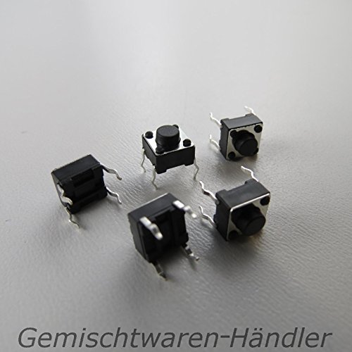 Unbekannt 10x Mikrotaster Mikroschalter AUS-(EIN) 6 x 6 x 5 mm 0,05A-12V Drucktaster Mini Mikro Taster Microtaster Mikro Schalter Tactile Drucktaster THT -