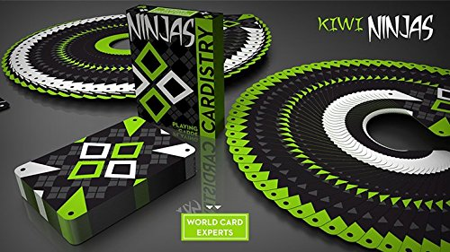 Kiwi Ninjas (Green) Playing Cards by World Card Experts ()