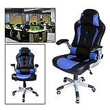 Hengda Sedia girevole da ufficio Sedia imbottiti dicarico sedia Racing Sedia da ufficio Executive regolabile da ufficio blu