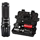 Torches LED Super Bright Rechargeable,Shadowhawk X800 Cree L2 LED Tactical Flashlight,1200 Lumens,Adjustable Focus,Zoomable,26650 battery included