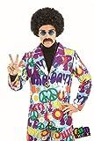 Herren Erwachsene Spaß Shack Grooviger Hippie-Anzug Kostüm Kleidung Größe Männer 52-54