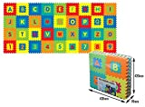 Sunta Alphabet and Number 2-in-1 Mats, Multicolor (36 Pieces)
