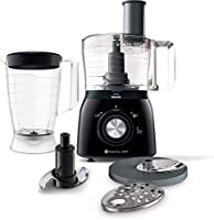 Philips Viva Collection 600 W 1.3 L Food Processor, HR7631/90, Black, 1 Year Brand Warranty
