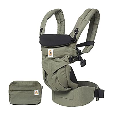 ERGObaby Baby Carrier Newborn to Toddler, 4-Position Omni 360 Khaki Green, Front Back Child Carrier