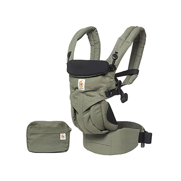 ERGObaby Baby Carrier Newborn to Toddler, 4-Position Omni 360 Khaki Green, Front Back Child Carrier Ergobaby Ergonomic Baby carrier with 4 wearing positions: parent facing, on the back, on the hip and on the front facing outwards. Four ergonomic carry positions and easy to use. Adapts to baby's growth: Infant baby carrier newborn to toddler (7-33 lbs./ 3.2 to 20 kg), no infant insert needed. Maximum comfort for parents: Longwear comfort with lumbar support waistbelt and extra cushioned shoulder straps. 1