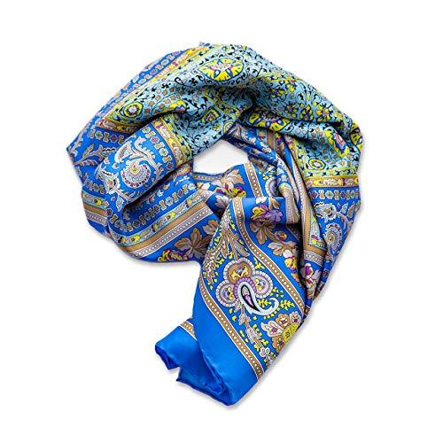 Kollektion Richy Seidentuch Royal Blau 90x90