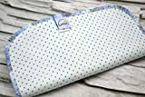 Spültuch aus Bio-Baumwolle, 2 Stück, Spüllappen, Wischtuch reinigen, umweltfreundlich, ökologisch, spülen, abwaschen, Haushalt, hellblau blau Punkte, waschbar, Zero Waste