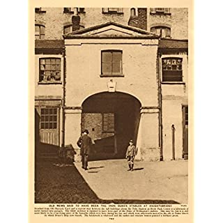 Duke of Wellington's stables/mews, Old Barrack Yard, Knightsbridge - 1926 - old antique vintage print - art picture prints of London