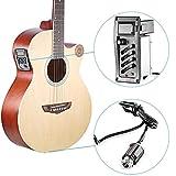 Gaddrt EQ-7545R - Preamplificatore a 4 bande con amplificatore di volume e tonalità, equalizzatore, pickup piezo, accordatore per chitarra acustica
