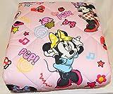 Caleffi Trapunta per Letto Singolo Peso Invernale Originale Disney Art. Minnie Happy 75907 Puro Cotone cm. 165x260