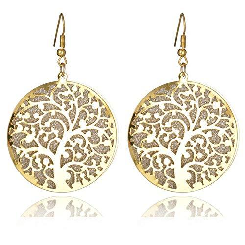 Traditionelle Gold Leaf (Dibbons Blatt Ohrringe Frau Peeling Ohrringe Runde Double Leaf Ohrstecker Abendessen Zubehör)