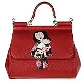 Handtasche Dolce&Gabbana Damen Leder Rot und Mehrfarben BB6002AB49680303 Rot 12X21X26 cm