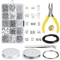 Kuuqa Jewelry Making Kit Resultados de la joyería Kit de inicio Joyas Rebordear Kit de herramientas de reparación y reparación
