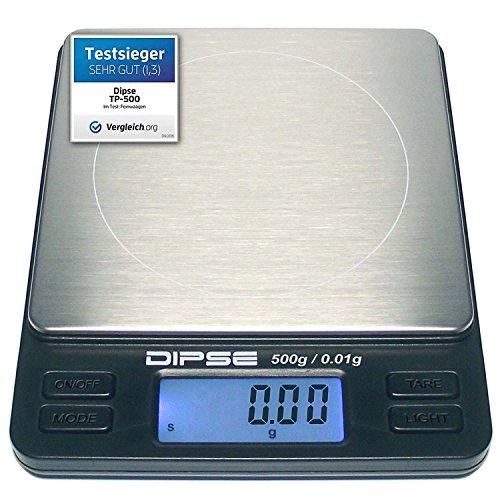 Digital Báscula TP-Link Serie Industrial Precisión Que Pesa, báscula portátil, Industrial, Oro Báscula con superficie Extra Grande, 500g x 0,01g