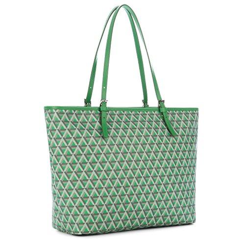 lancaster-paris-womens-41804vertpraine-green-canvas-tote