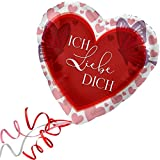 > > > Fertig Heliumbefüllt < < < Folienballon großes Herz rote Herzen Ich liebe Dich Ballon mit Helium/Ballongas gefüllt Liebe Heiratsantrag Valentinstag von Haus der Herzen®