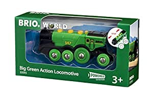 BRIO World  - 33593 - LOCOMOTIVE VERTE PUISSANTE A PILES