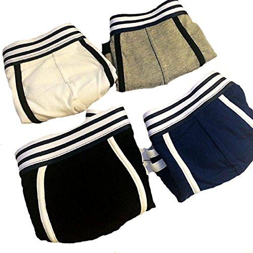 Gli Uomini Le Linee Della Banda Di Colore Solido Il Cotone L'esercizio Fisico I Pantaloni Boxer Comprare Due Prendi Due Liberi Navy