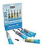 Pebeo - Boîte Setacolor 3D pour peinture sur tissu tubes 20 ml (lot de 5)