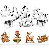 '' Anokay Goods , An Okay Life ! ''   Un set con 8 pezzi formine per biscotti 3D è stato progettato per portare più divertimento per la vostra famiglia a Natale.  Si tratta di un kit divertente da usare. La creazione biscotti di un albero in ...