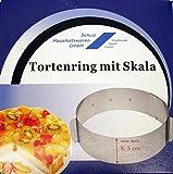 Schulz 32021 Edelstahl Tortenring mit Skala und Rastung - extra