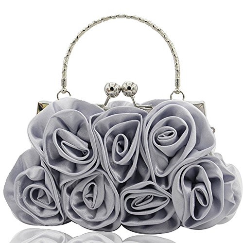Handtasche Clutch Bag Damen ♥ Loveso♥ Schultertasche Abendtasche Party Partytasche Ledertasche Damen Damentasche Klassiker Elegant,Grau, Rot,Schwarz,Weiß,Beige (Beige Ski Hose)
