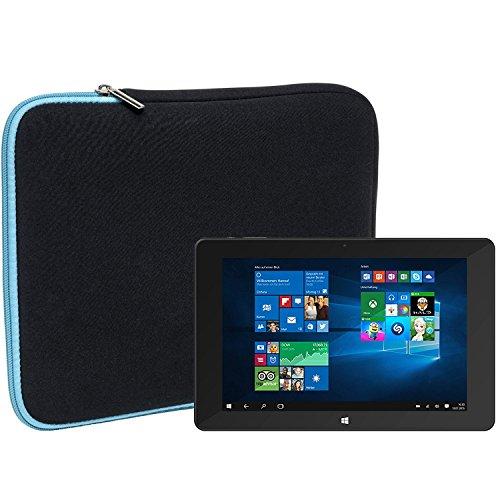 Slabo Tablet Tasche Schutzhülle für TrekStor SurfTab Duo W1 Hülle Etui Case Phablet aus Neopren – TÜRKIS/SCHWARZ