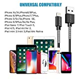 Carlcoo 5 Pack 1m Charging Cable Cord for Certified Charger Cable/Data Sync USB Fast Charging Cable Cord Compatible with iPhone X Case/XS Max/XR/8/8 Plus/7/7 Plus/6/6s Plus/5s/5, iPad Mini/Air Case Bild 5
