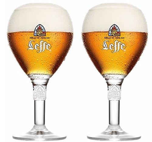 Leffe Bierglaser Bier Kelch 33cl (Set von 2) + 2 Freie Bierdeckel