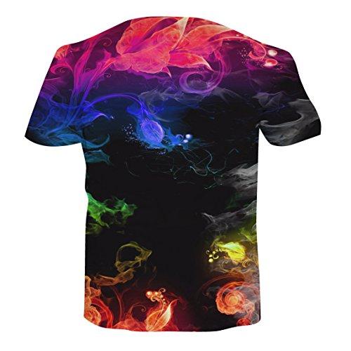 NEWISTAR Unisex 3D Druckten Sommer-Beiläufige Kurze Hülsen-T-Shirts T-Stücke A-1