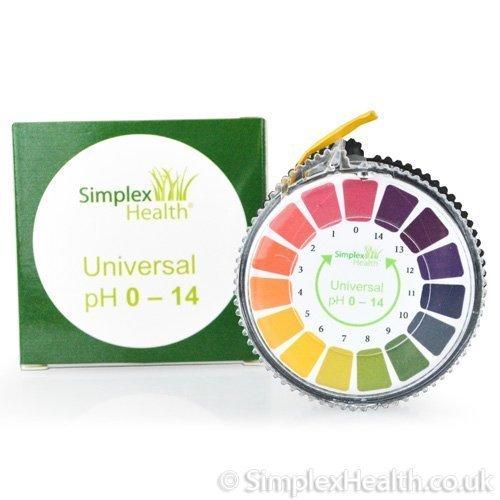 SimplexHealth pH-Indikator Lackmus-Test Papier-Streifen Roll, 0-14 Für Wasser Urin und Speichel - 5 Meter Test