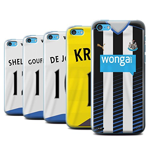 Offiziell Newcastle United FC Hülle / Case für Apple iPhone 5C / Pack 29pcs Muster / NUFC Trikot Home 15/16 Kollektion Pack 29pcs