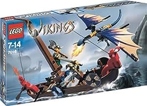 Lego 7016 le drakkar des vikings contre le dragon volant