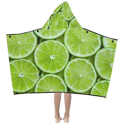 Grüne Limette Zitrone weiche warme Kinder verkleiden sich mit Kapuze tragbare Decke Badetücher werfen Wrap für Kleinkinder Kind Mädchen Junge Größe Home Reise Picknick Schlaf Geschenk -