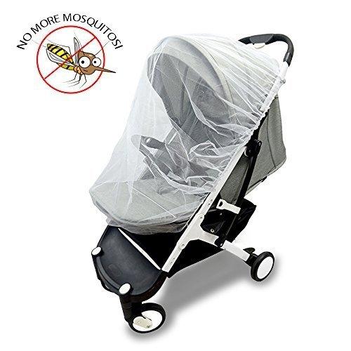 Vitutech Universal Insektenschutz,Mückennetz Insektenschutz für Kinderwagen Mückennetz für Baby reißfest & waschbar Insektenschutz für Babyschale, Weiß
