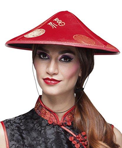 erdbeerclown - Asiatischer Hut , (Asiatische Koch Kostüm)