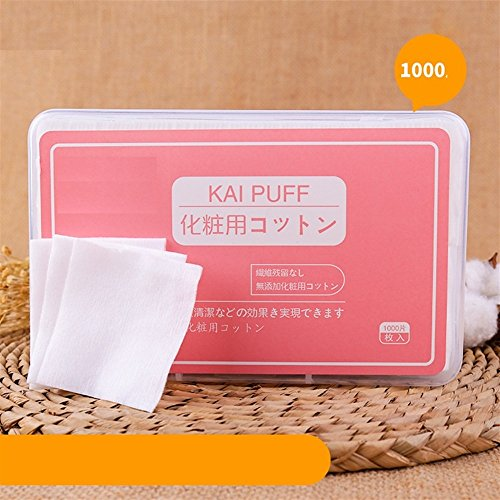 Makeup entferner Weiche Pure Organic Cotton Pad Reisen Gesichts Pads Baumwolle Pad Remover Baumwolle Kosmetische Baumwolle für Gesicht Auge Nagel Make-Up Entferner (Appr.1000pcs) -Bearony