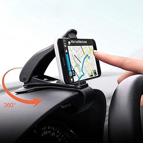 Opard Handyhalterung Auto 360° drehbar KFZ Halterung Universal Armaturenbrett iPhone 6 7 Plus bietet sicheres Fahren, das Samsung Galaxy S6 S7 S8 (hält bis zu 6,5-Zoll-Handy)
