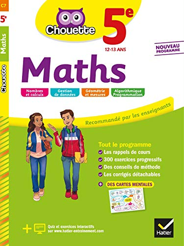 Maths 5e: cahier d'entraînement et de révision