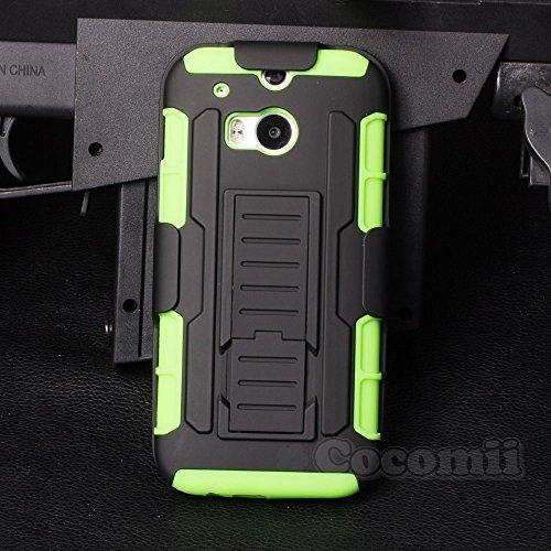 Cocomii Robot Armor HTC One M8/M8s Hülle [Strapazierfähig] Erstklassig Gürtelclip Ständer Stoßfest Gehäuse [Militärisch Verteidiger] Ganzkörper Case Schutzhülle for HTC One M8 (R.Green)