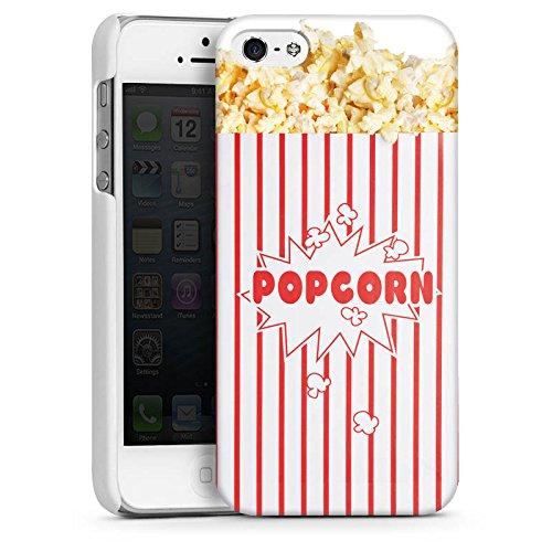 Apple iPhone 5s Housse Étui Protection Coque Popcorn Cinéma Design CasDur blanc