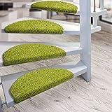 Kit de 15 marchettes d'escalier casa pura® Sphinx à poil long | amortissantes et résistantes | lime...