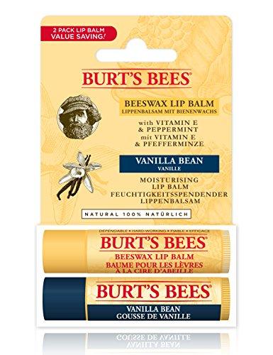 Burt's Bees 100 Percent Natural Lip Balm, Beeswax and Vanilla Bean 4.25 g - Pack of 2
